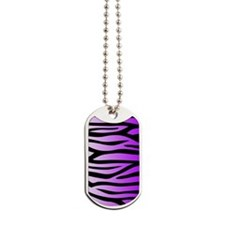purple-gradient-zebra-4g-slider Dog Tags