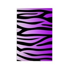 purple-gradient-zebra-4g-slider Rectangle Magnet