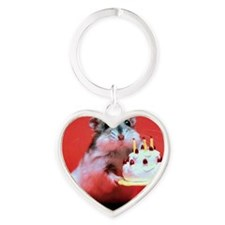 hamster-birthday Heart Keychain
