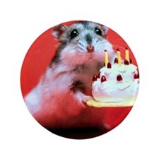 "hamster-birthday 3.5"" Button"