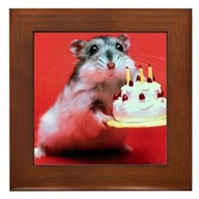 hamster-birthday Framed Tile