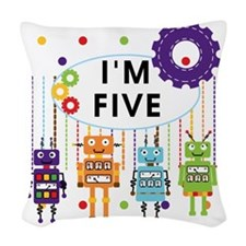 ROBOTFIVE Woven Throw Pillow