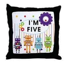 ROBOTFIVE Throw Pillow