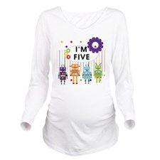 ROBOTFIVE Long Sleeve Maternity T-Shirt