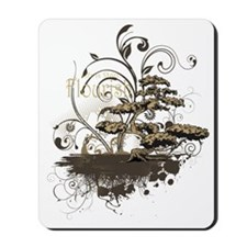 Bonsai Tree - Brown on Dark Mousepad