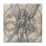Archangel Michael Tile Coaster