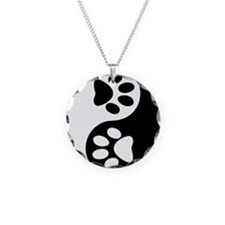 paw yin and yang Necklace