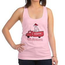 Lil Fireman Fire Truck Dalmatia Racerback Tank Top