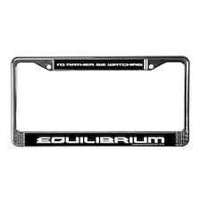 Cute Equilibrium License Plate Frame