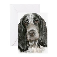 english cocker portrait  Greeting Card