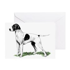 english pointer portrait Greeting Card