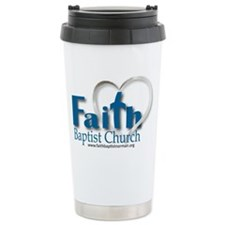 Faith-Blue Ceramic Travel Mug
