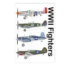WWIIFighters_Front Postcards (Package of 8)