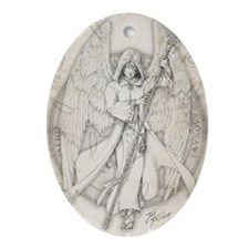 Archangel Raphael Oval Ornament