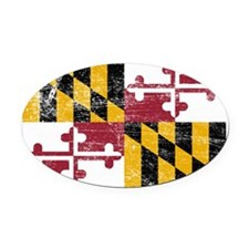 Maryland Oval Car Magnet