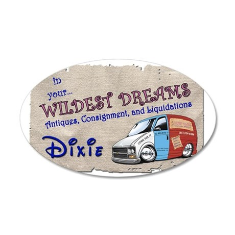 shirtfrt 35x21 Oval Wall Decal