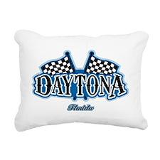 Daytona Flagged Rectangular Canvas Pillow