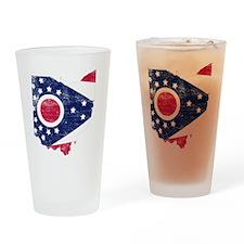 Ohio Flag Map Drinking Glass