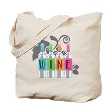Wine-Bottles-blk Tote Bag