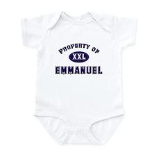 Property of emmanuel Infant Bodysuit