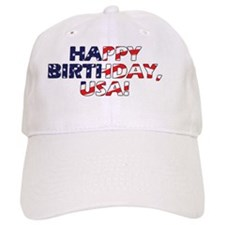 Happy Birthday USA Baseball Cap