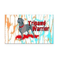 Tripawd Warrior 3x5 Sticker Rectangle Car Magnet