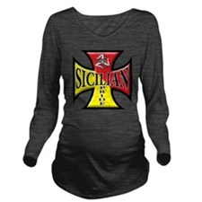 sicilian pride Long Sleeve Maternity T-Shirt