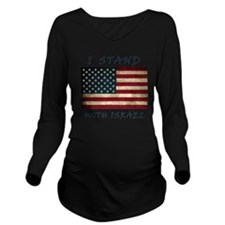 I Stand with Israel  Long Sleeve Maternity T-Shirt