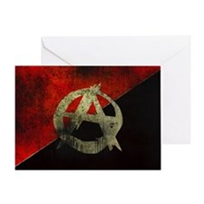 anarchy-symbol-flag Greeting Card
