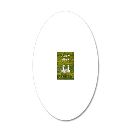 Geese iPod 20x12 Oval Wall Decal