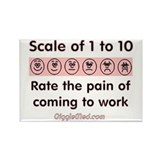 Pain of Work Rectangle Magnet