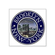 "Brooklyn_Button2 Square Sticker 3"" x 3"""