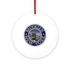 Brooklyn_Button2 Round Ornament