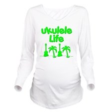 ukulele Long Sleeve Maternity T-Shirt