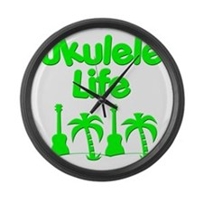 ukulele Large Wall Clock
