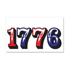 1776 dark Car Magnet 20 x 12