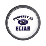 Property of elian Wall Clock
