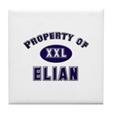 Property of elian Tile Coaster