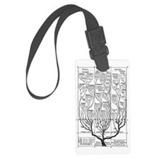 Haeckel_arbol_bn Luggage Tag