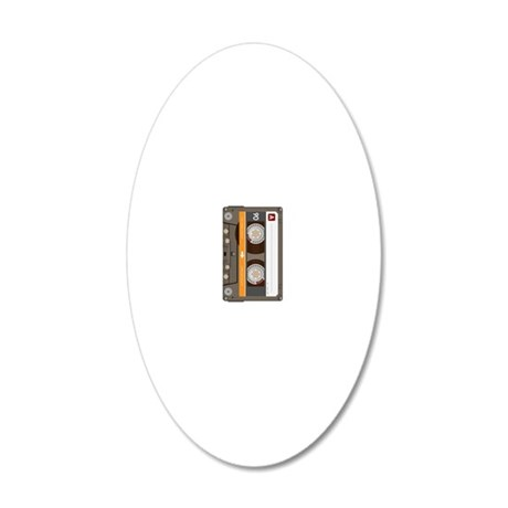 cassette tape vertical 20x12 Oval Wall Decal
