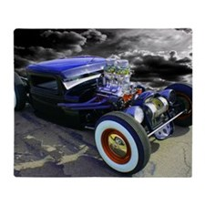 Lil Blue Rat Rod Throw Blanket