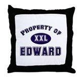 Property of edward Throw Pillow