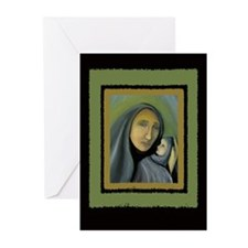 Madonna And Child Christmas Greeting Cards