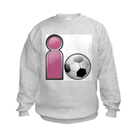 I play Soccer - Pink Kids Sweatshirt