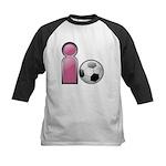 I play Soccer - Pink Kids Baseball Jersey