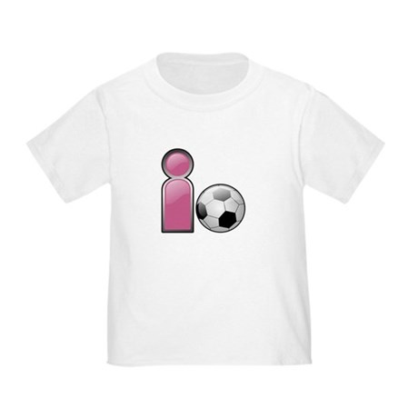 I play Soccer - Pink Toddler T-Shirt