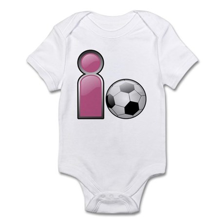 I play Soccer - Pink Infant Bodysuit