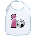 I play Soccer - Pink Bib