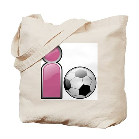 I play Soccer - Pink Tote Bag
