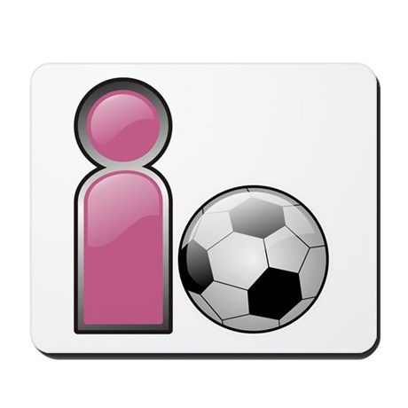 I play Soccer - Pink Mousepad